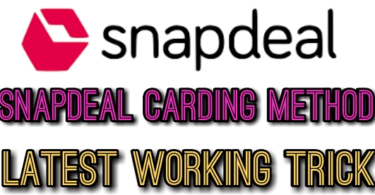 Snapdeal Carding method