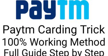 Paytm Carding Trick 100% Working Method