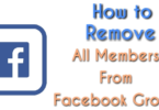 Remove all members from facebook group at once