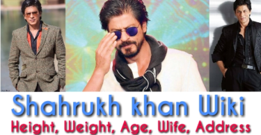 Shahrukh khan wiki, height, weight, age, wife, address, movues