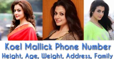 Koel mallick phone number, height, weight