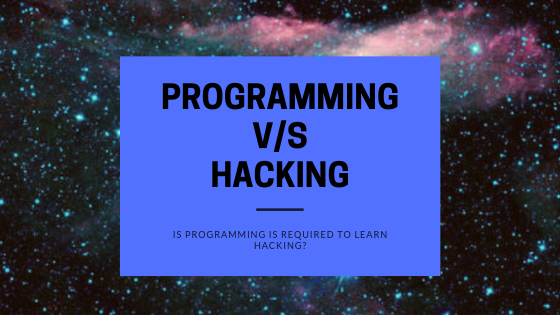 Program required for hacking