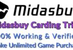 Midasbuy carding trick and method