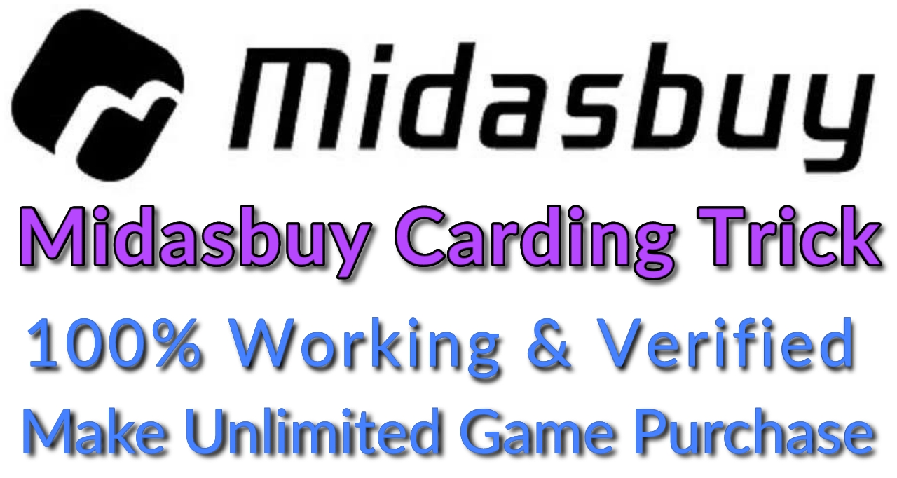 Midasbuy carding trick and method